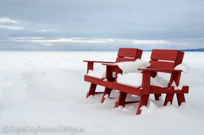Cozy sunset chair, Lake Superior
