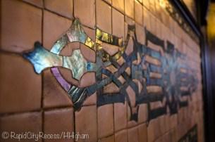 Laurium Manor Inn fireplace art
