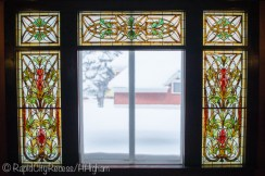 Laurium Manor Inn stained glass windows