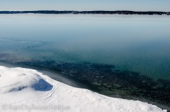 clear Torch Lake ice-2