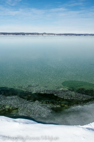 clear Torch Lake ice
