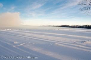 Torch Lake winter fog