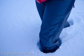 knee-deep in snow