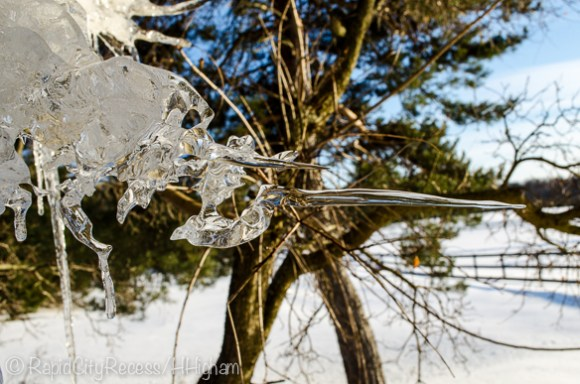 sideways icicle