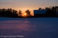 Stone Gate Farm - Red Barn - sunset-2