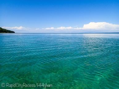 clear open water