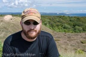Tony atop perched dunes