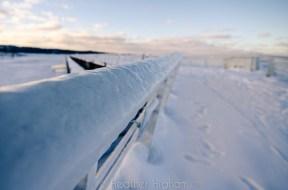 Ice-Coated Clinch Marina Railings