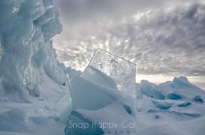 backlit ice shards