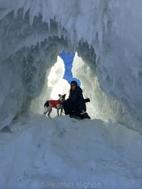 me and Petey in ice cave