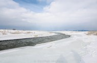 Platte River disapperas into ice