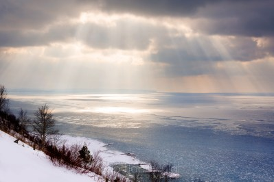 Dramatic Skies at Empire Bluffs