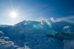 blue sky blue ice