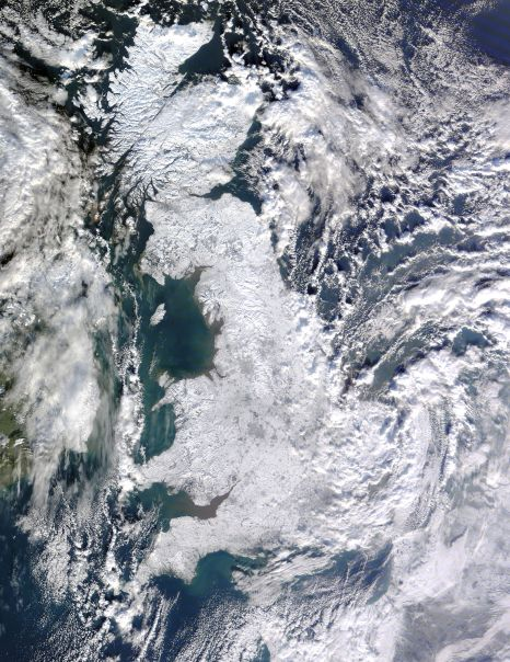 Snow across Great Britain