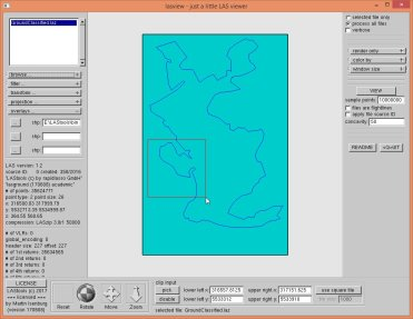 The overlayed polygon in the GUI helps us pick an interesting area.