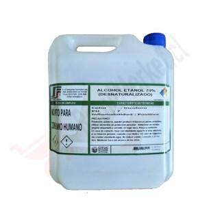 Alcohol etanol 70% (Desnaturalizado) 5 lts.