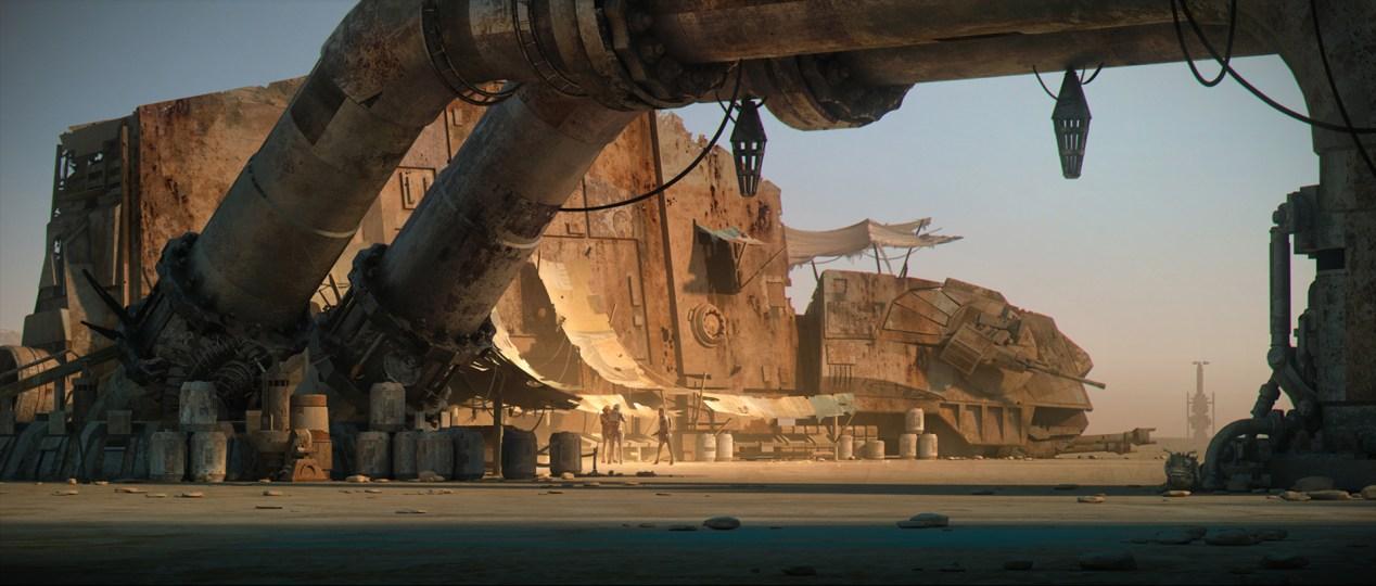 ILM Force Awakens portfolio - Jakku 3