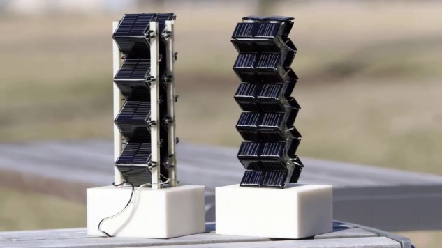 solar cells using a zigzag