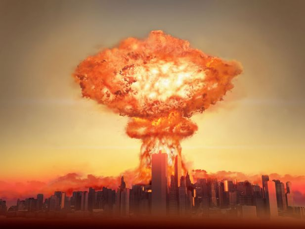Alive After The Fall - Nuclear bomb exploding in a city