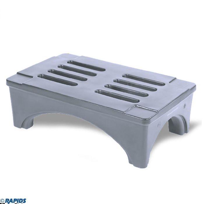 36 gray plastic dunnage rack storage shelf