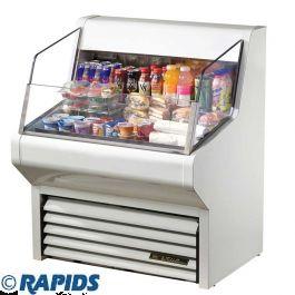true thac 36 horizontal air curtain refrigerator merchandiser