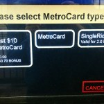 NYtick: No 1-day MetroCards