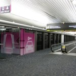 Hike and a train, or stuffing luggage on a shuttle: rental car center trains at MIA and elsewhere