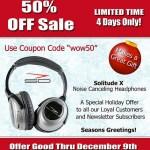 50% off Solitude X Noise Canceling Headphones