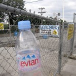 The evian bottle is not discrete