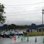 Costa Rica: collapsed bridge and traffic cones