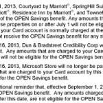Amex OPEN Savings® dropping Marriott, Dun, Microsoft
