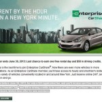 Bonus Emerald Club Day and Enterprise CarShare NYC $50 Credit for $25 Application by 6/30
