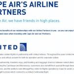 Booking United Caribbean Awards on Cape Air: Fail