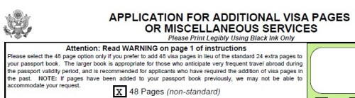 48 Additional Passport Pages