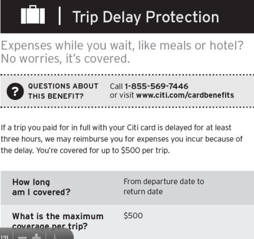 Citi Trip Delay