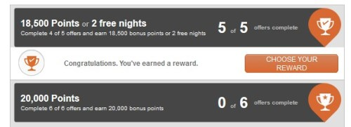 IHG Into the Nights Award email