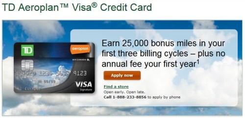 TD Aeroplan Visa Signature Card