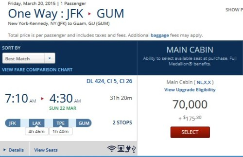 JFK-LAX-TPE-GUM