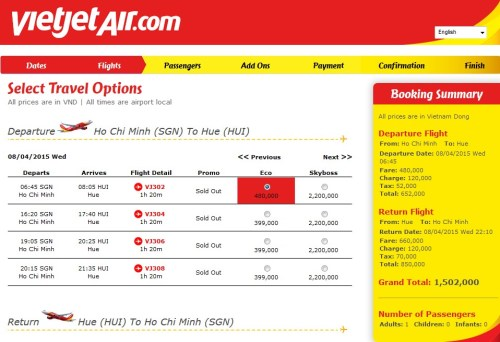 VietJet Air SGN-HUE