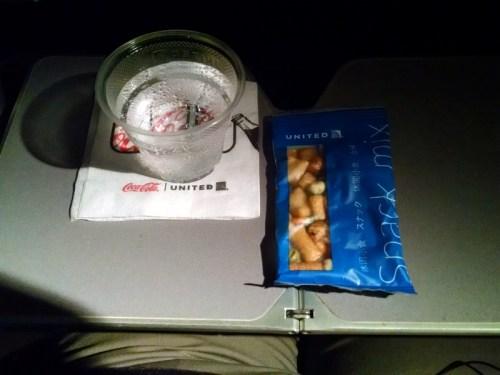 United EWR-NRT Mid-Flight Snack