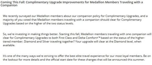 Delta Companion Upgrades