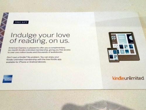 Amex Centurion Lounge Kindle Unlimited