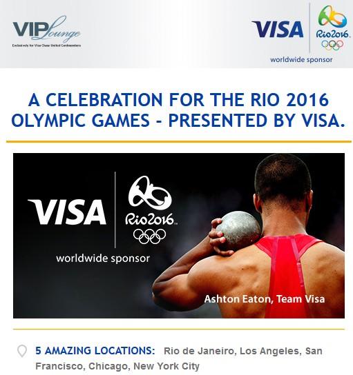 Chase United Visa Rio Olympics
