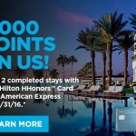 Amex Platinum 7,500 Hilton Points for 2 Nights, Amex Hilton 5,000 Hilton Points for 2 Stays, and Triple Stack with Other Offers
