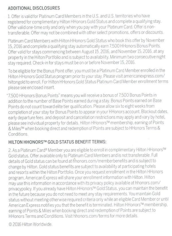 Amex Platinum Hilton 7500 terms
