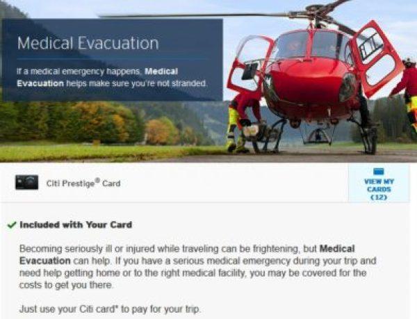 Citi Prestige Medical Evacuation