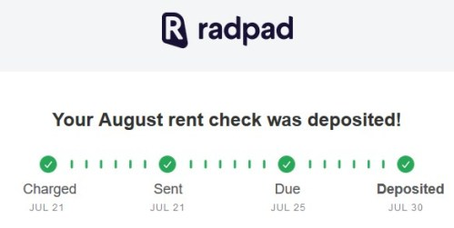 RadPad timeline