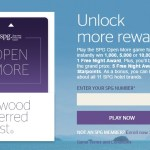 SPG Open More Game – Daily Instant Win Entries to September 12