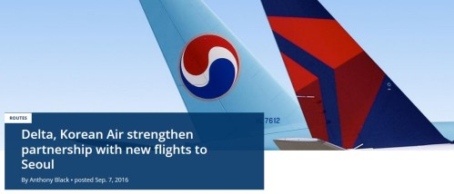 Delta Korean Air Strengthen Partnership