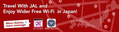 JAL Free Wifi Japan